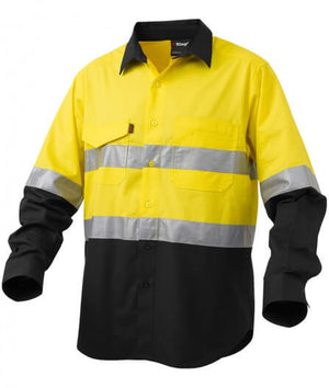 KingGee Workcool 2 Hi-Vis Reflective Spliced Shirt Long Sleeve (K54880)