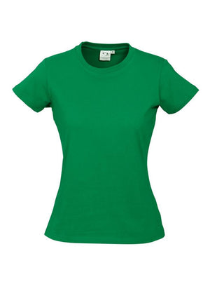 Biz Collection-Biz Collection Ladies Ice Tee 1st ( 10 Colour )-Kelly Green / 6-Uniform Wholesalers - 9