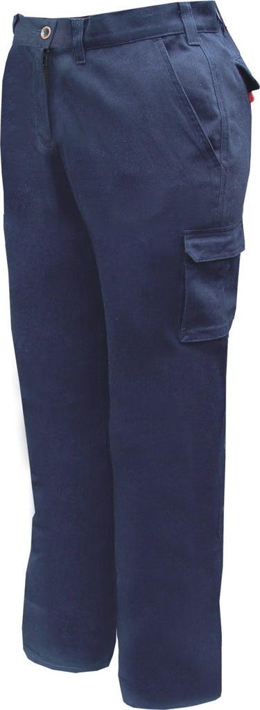 Prime Mover-Prime Mover Ladies Cotton Drill Cargo Pants-Navy / 6-Uniform Wholesalers