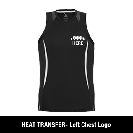 Heat Transfer Left Chest Logo
