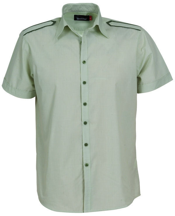 identitee-Identitee Mens Havana Short Sleeves-Lime/Green / S-Uniform Wholesalers - 3