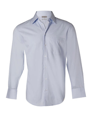 Winning Spirit Men's Fine Twill Long Sleeve Shirt (M7030L)
