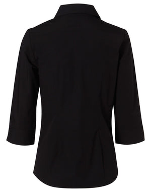 Winning Spirit Women's Cotton/Poly Stretch 3/4 Sleeve Shirt (M8020Q)