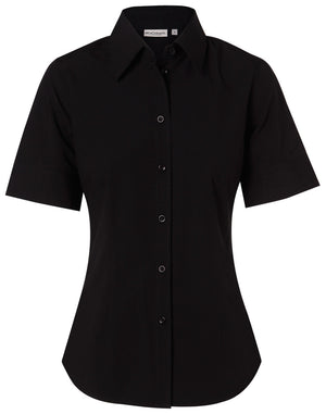 Winning Spirit  Women's Cotton/Poly Stretch Short Sleeve Shirt (M8020S)
