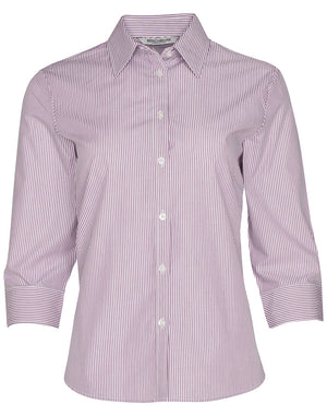 Winning Spirit Women's Balance Stripe 3/4 Sleeve Shirt (M8233)