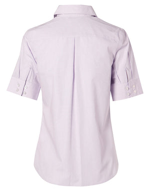 Winning Spirit Women's Mini Check Short Sleeve Shirt (M8360S)