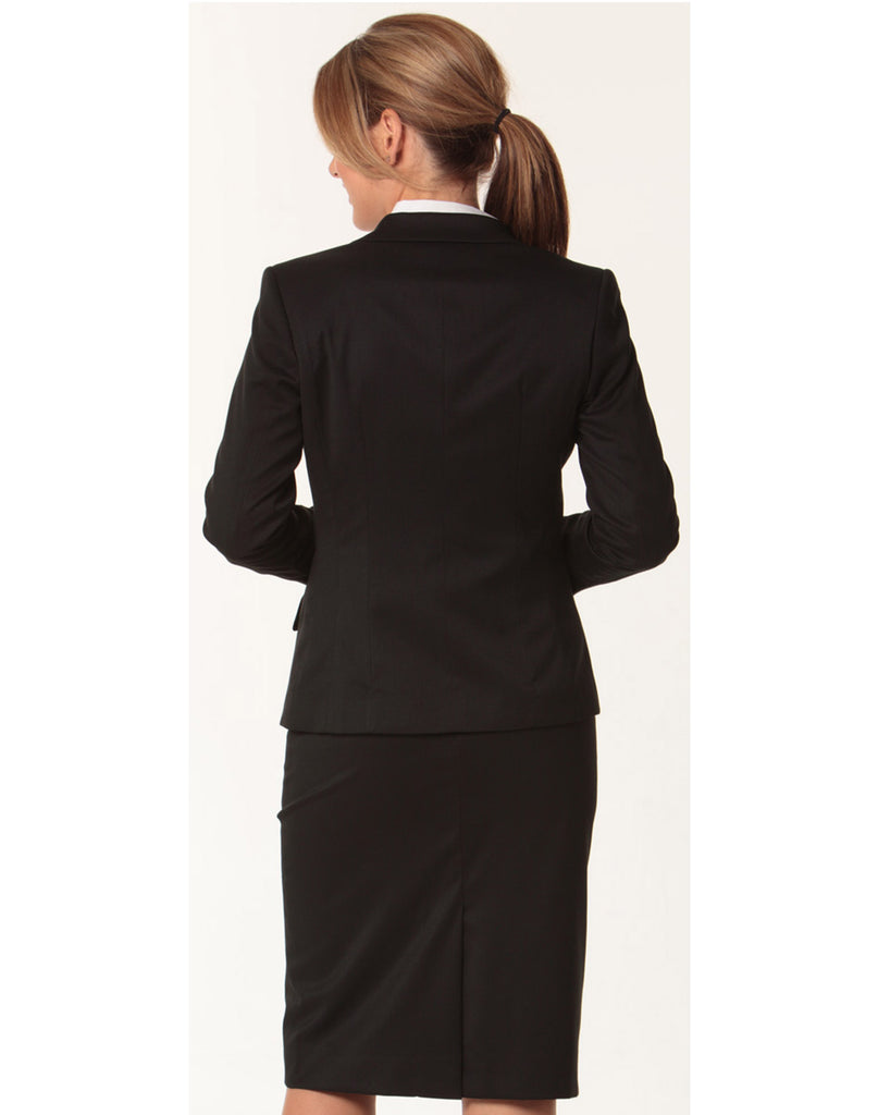 Winning Spirit Women's Poly/Viscose Stretch One Button Cropped Jacket (M9205)
