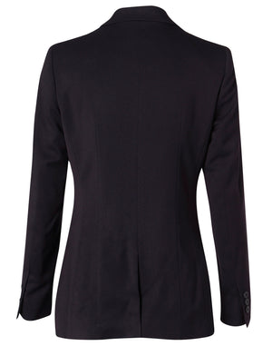 Winning Spirit Women's Poly/Viscose Stretch Two Buttons Mid Length Jacket (M9206)
