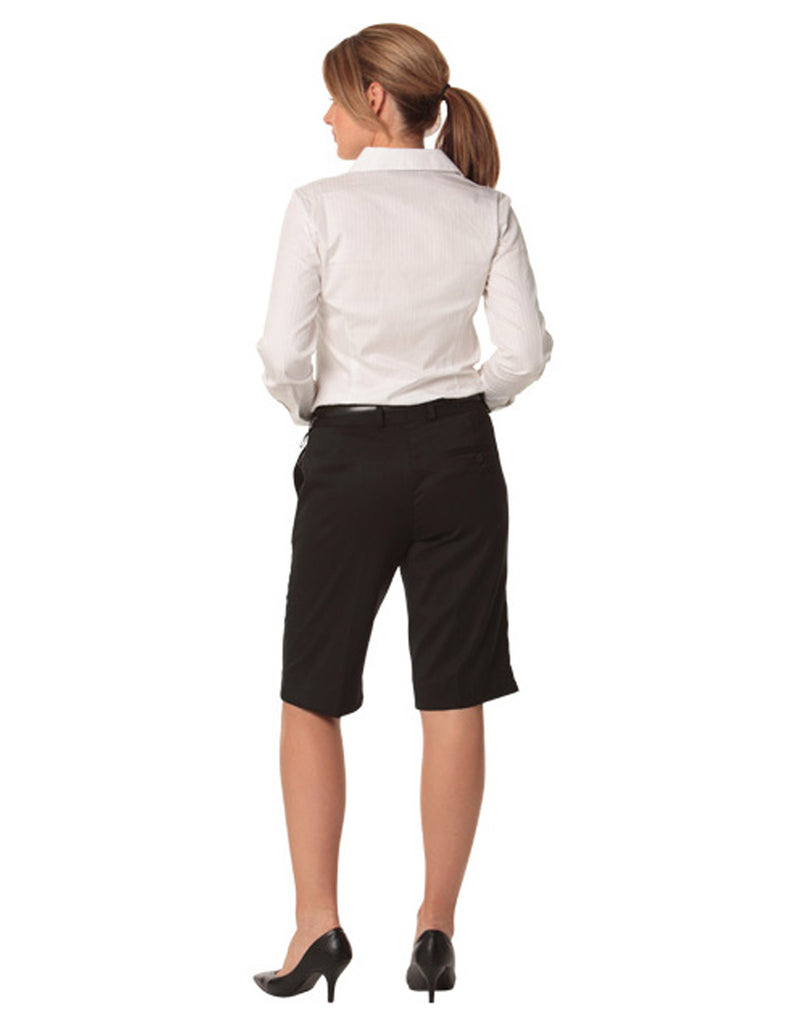 Winning Spirit Women's Poly/Viscose Stretch Knee Length Flexi Waist Shorts (M9441)