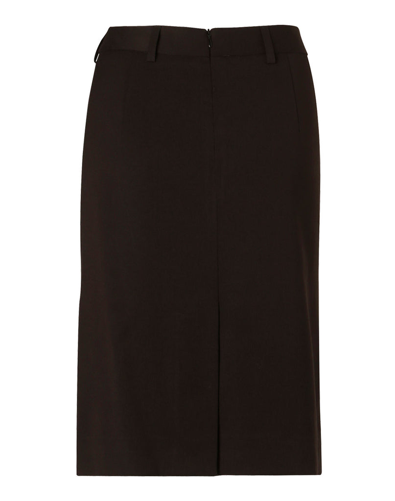 Winning Spirit Women's Poly/Viscose Stretch Mid Length Lined Pencil Skirt (M9471)