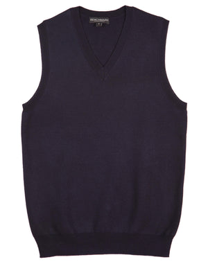 Winning Spirit-Winning Spirit Women's V-neck Vest-Navy / XS-Uniform Wholesalers - 4