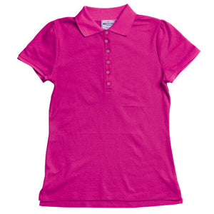 Bocini-Bocini Ladies Fashion Polo-Magenta / 8-Uniform Wholesalers - 4