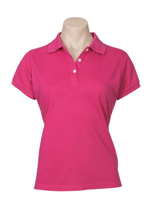 Biz Collection-Biz Collection Ladies Neon Polo-Magenta / 6-Uniform Wholesalers - 5