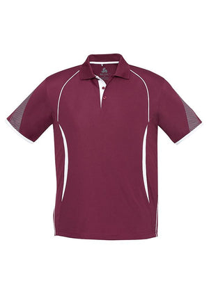 Biz Collection-Biz Collection  Mens Razor Polo-Maroon/White / S-Uniform Wholesalers - 9