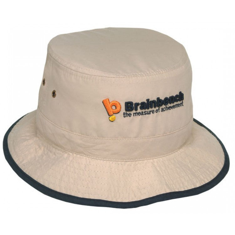 Grace Collection-Grace Collection Microfibre Bucket Hat--Uniform Wholesalers - 1
