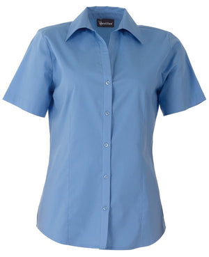 identitee-Identitee Ladies Rodeo Short Sleeve-Mid Blue / 8-Uniform Wholesalers - 4