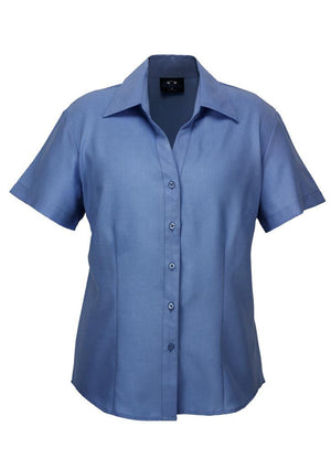 Biz Collection-Biz Collection Ladies Plain Oasis Shirt-S/S-Mid Blue / 6-Uniform Wholesalers - 8