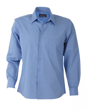 identitee-Identitee Mens Rodeo Long Sleeve-Mid Blue / S-Uniform Wholesalers - 4