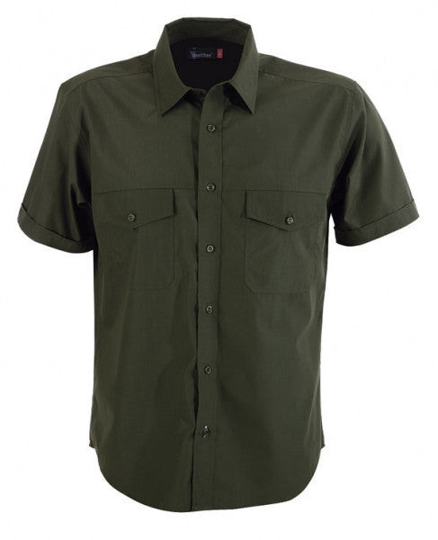 identitee-Identitee Mens Harley Short Sleeve-Military / S-Uniform Wholesalers - 5