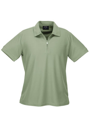 Biz Collection-Biz Collection Ladies Micro Waffle Polo-Sage / 8-Uniform Wholesalers - 5