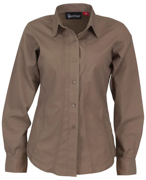 identitee-Identitee Ladies Aston Long Sleeve-Mocha / 8-Uniform Wholesalers - 5
