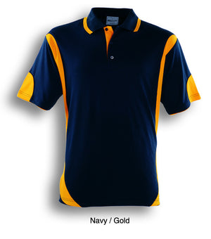 Bocini-Bocini Adults Breezeway Contrast Polo(1st 12 colors)-Navy/Gold / S-Uniform Wholesalers - 9