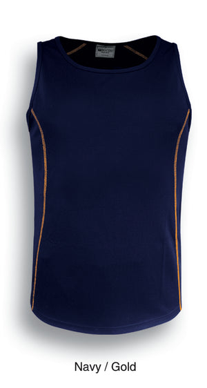 Bocini-Bocini Kids Stitch Essentials Singlet-Navy/Gold / 6-Uniform Wholesalers - 5