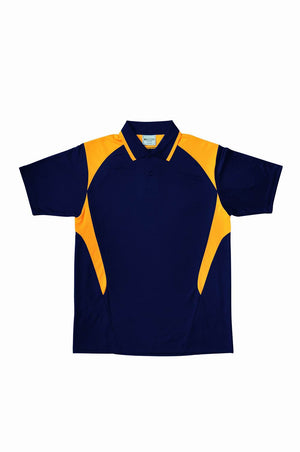 Bocini-Bocini Kid's Active Polo-Navy/Gold / 6-Uniform Wholesalers - 5