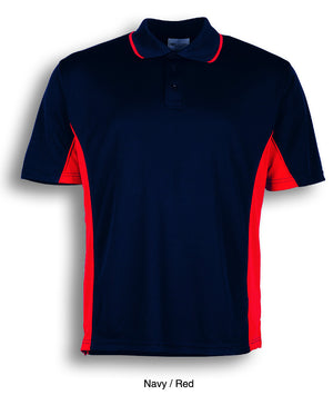 Bocini-Bocini Men's Breezeway Panel Polo(1st 10 colors)-Navy/Red / S-Uniform Wholesalers - 11