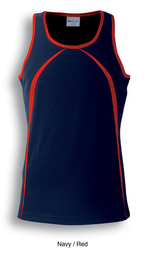 Bocini-Bocini Men's Breezeway Singlet-Navy/Red / S-Uniform Wholesalers - 3