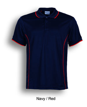 Bocini-Bocini Ladies Stitch Feature Essential  Short Sleeve Polo(2nd 12 colors)-Navy/Red / 8-Uniform Wholesalers - 2