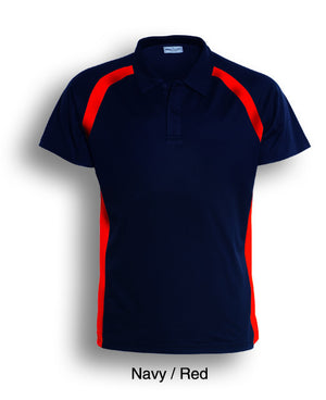 Bocini-Bocini Ladies Team Essentials Short Sleeve Contrast Panel Polo(1st 10 colors)-Navy/Red / 8-Uniform Wholesalers - 8