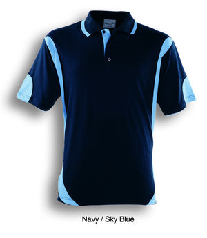 Bocini-Bocini Adults Breezeway Contrast Polo(1st 12 colors)-Navy/Sky Blue / S-Uniform Wholesalers - 11