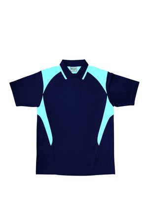 Bocini-Bocini Kid's Active Polo-Navy/Sky / 6-Uniform Wholesalers - 6