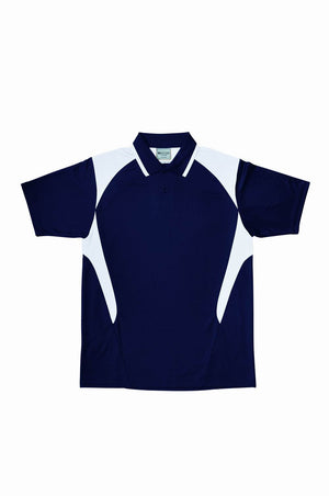 Bocini-Bocini Adults Active Polo-Navy/White / S-Uniform Wholesalers - 7