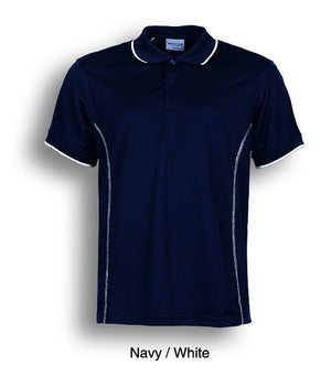 Bocini-Bocini Ladies Stitch Feature Essential  Short Sleeve Polo(2nd 12 colors)-Navy/White / 8-Uniform Wholesalers - 4