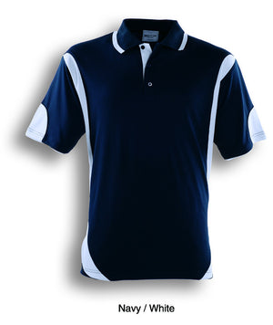Bocini-Bocini Adults Breezeway Contrast Polo(1st 12 colors)-Navy/White / S-Uniform Wholesalers - 12