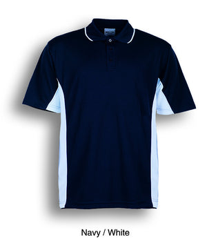 Bocini-Bocini Kids Breezeway Panel Polo(2nd 9 colors)-Navy/White / 4-Uniform Wholesalers - 3