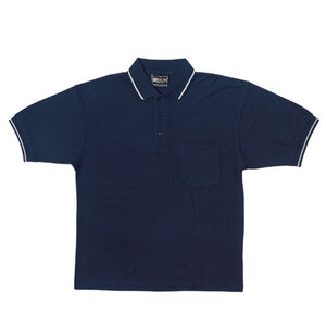 Bocini-Bocini Pocket Polo-Navy/Grey Marle / S-Uniform Wholesalers - 3