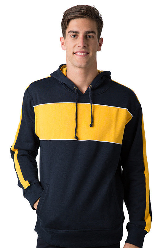 Be Seen-Be Seen Adults Three Toned Hoodie With Contrast-Navy-Light Gold-White / XS-Uniform Wholesalers - 19