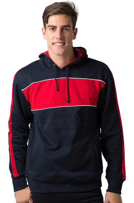 Be Seen-Be Seen Adults Three Toned Hoodie With Contrast-Navy-Red-White / XS-Uniform Wholesalers - 22