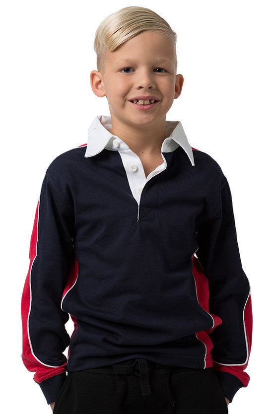 Be Seen-Be Seen Kids Knit Rugby Jersey-Navy-Red-White / 6-Uniform Wholesalers - 10