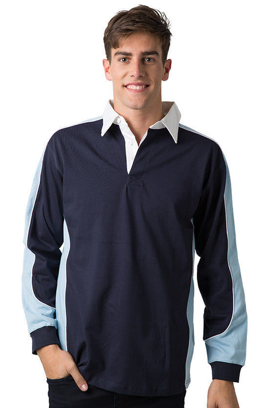 Be Seen-Be Seen Men's Knit Rugby Jersey 2nd( 7 Color )-Navy-Sky-White / XS-Uniform Wholesalers - 4