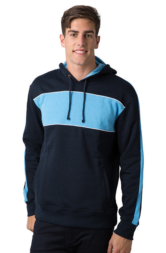 Be Seen-Be Seen Adults Three Toned Hoodie With Contrast-Navy-Sky-White / XS-Uniform Wholesalers - 25