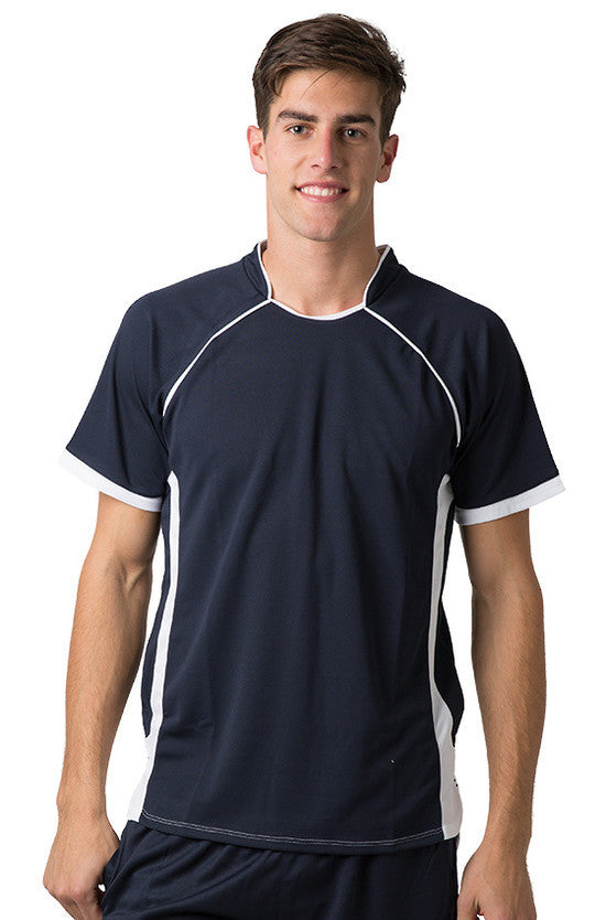 Be Seen-Be Seen Men's Polo Shirt With Pique Knit Body And Contrast 2nd( 7 Color )-Navy-White / XS-Uniform Wholesalers - 1