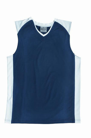 Bocini-Bocini Kid's Basketball Singlet-Navy/White / 6-Uniform Wholesalers - 3