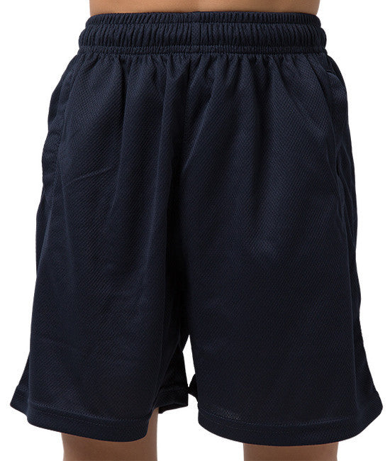 Be Seen-Be Seen Kids Plain Shorts With Elastic Waist-Navy / 4-Uniform Wholesalers - 4