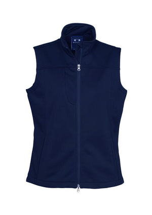 Biz Collection-Biz Collection Ladies Soft Shell Vest-Navy / S-Uniform Wholesalers - 3