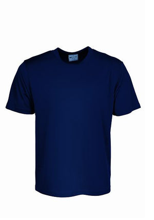 Bocini-Bocini Adults Plain Breezeway Micromesh Tee Shirt 1st (14 Colour)-Navy / S-Uniform Wholesalers - 8