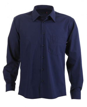 identitee-Identitee Mens Rodeo Long Sleeve-Navy / S-Uniform Wholesalers - 5